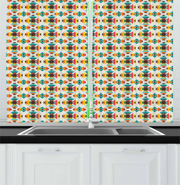 Asian-Oriental-Kitchen-Curtains-2-Panel-Set-Window-Drapes-55-034-X-39-034 thumbnail 8
