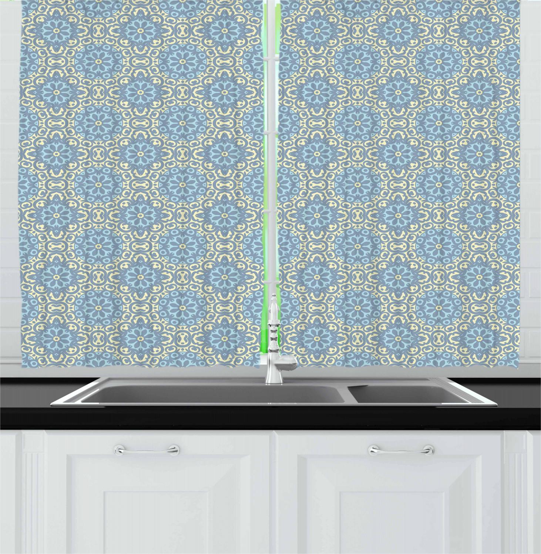 Asian-Oriental-Kitchen-Curtains-2-Panel-Set-Window-Drapes-55-034-X-39-034 thumbnail 25