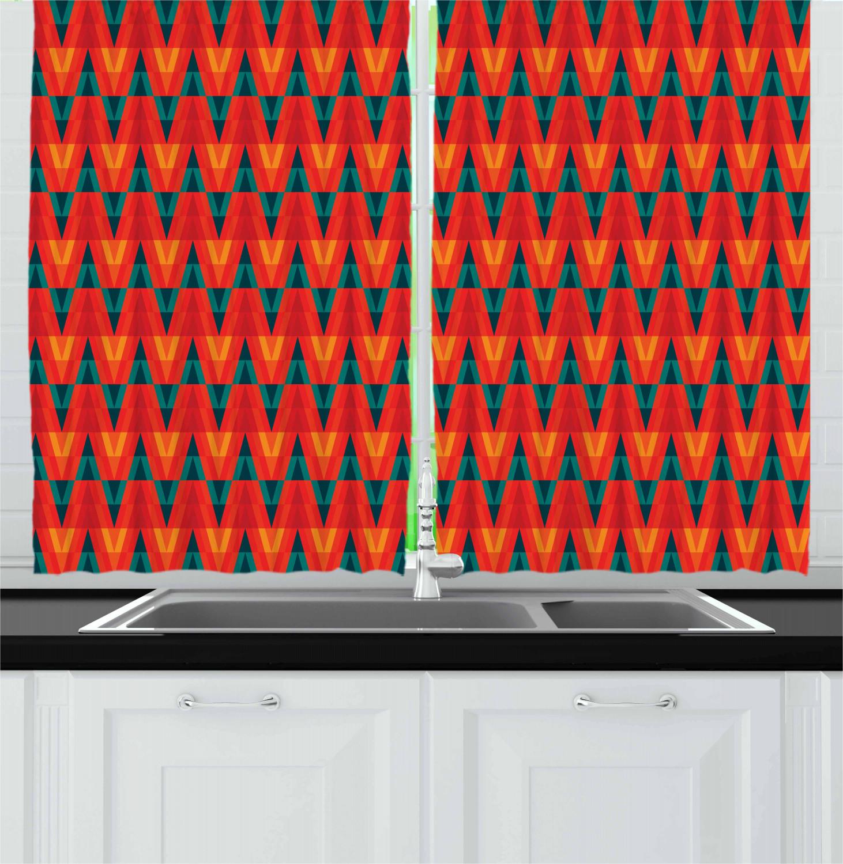 Asian-Oriental-Kitchen-Curtains-2-Panel-Set-Window-Drapes-55-034-X-39-034 thumbnail 5