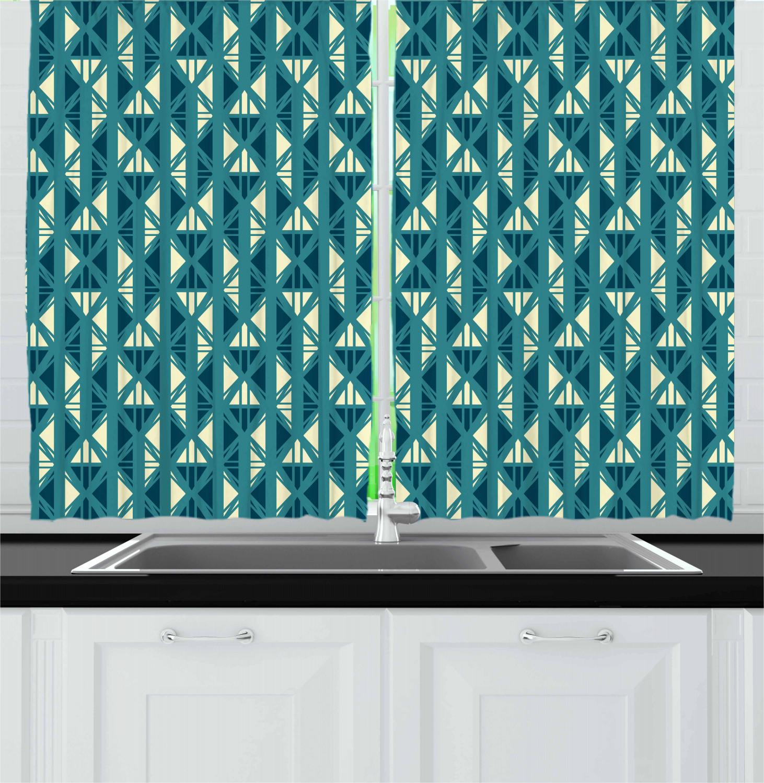 Asian-Oriental-Kitchen-Curtains-2-Panel-Set-Window-Drapes-55-034-X-39-034 thumbnail 20