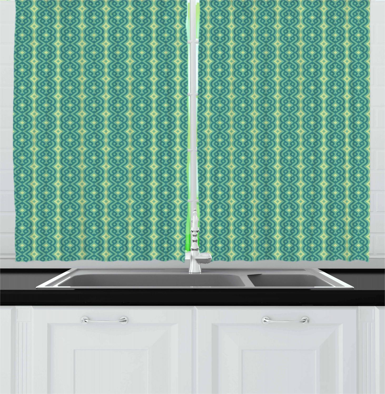 Asian-Oriental-Kitchen-Curtains-2-Panel-Set-Window-Drapes-55-034-X-39-034 thumbnail 16