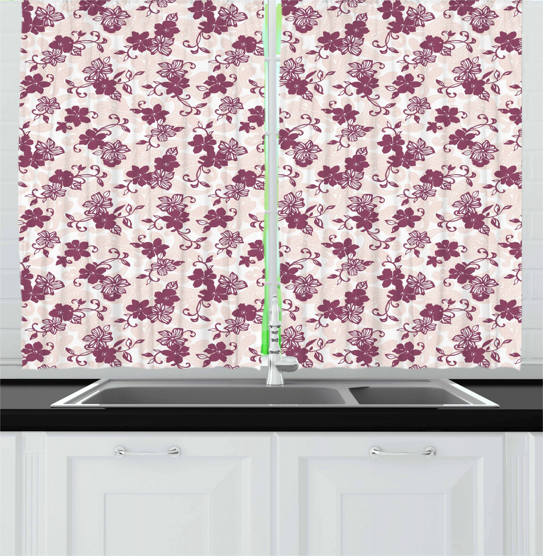 Asian-Oriental-Kitchen-Curtains-2-Panel-Set-Window-Drapes-55-034-X-39-034 thumbnail 28