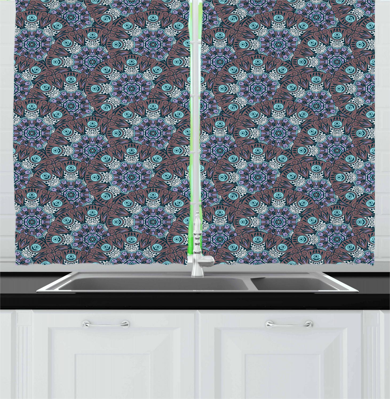 Asian-Oriental-Kitchen-Curtains-2-Panel-Set-Window-Drapes-55-034-X-39-034 thumbnail 12
