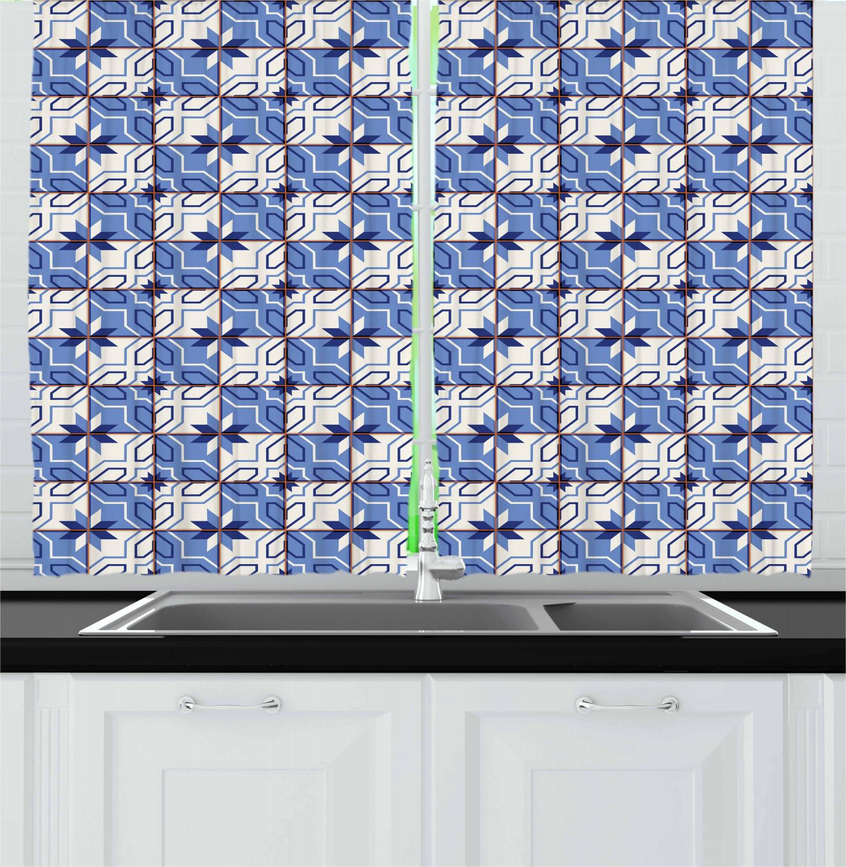 Asian-Oriental-Kitchen-Curtains-2-Panel-Set-Window-Drapes-55-034-X-39-034 thumbnail 21