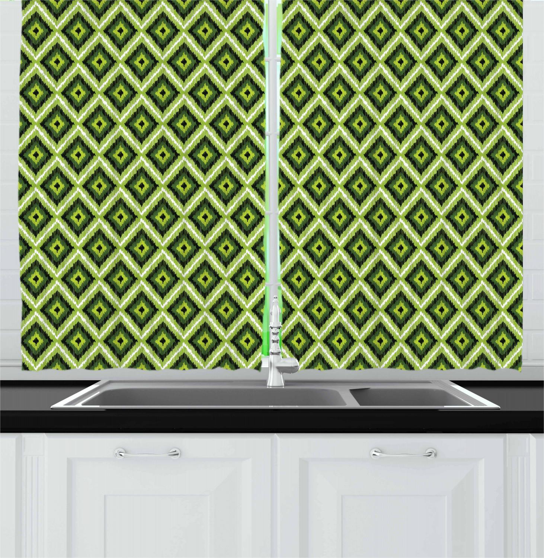 Asian-Oriental-Kitchen-Curtains-2-Panel-Set-Window-Drapes-55-034-X-39-034 thumbnail 15