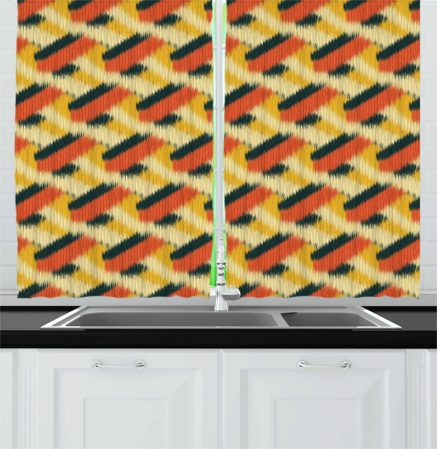 Details about Modern Colorful Kitchen Curtains 2 Panel Set Window Drapes  55\