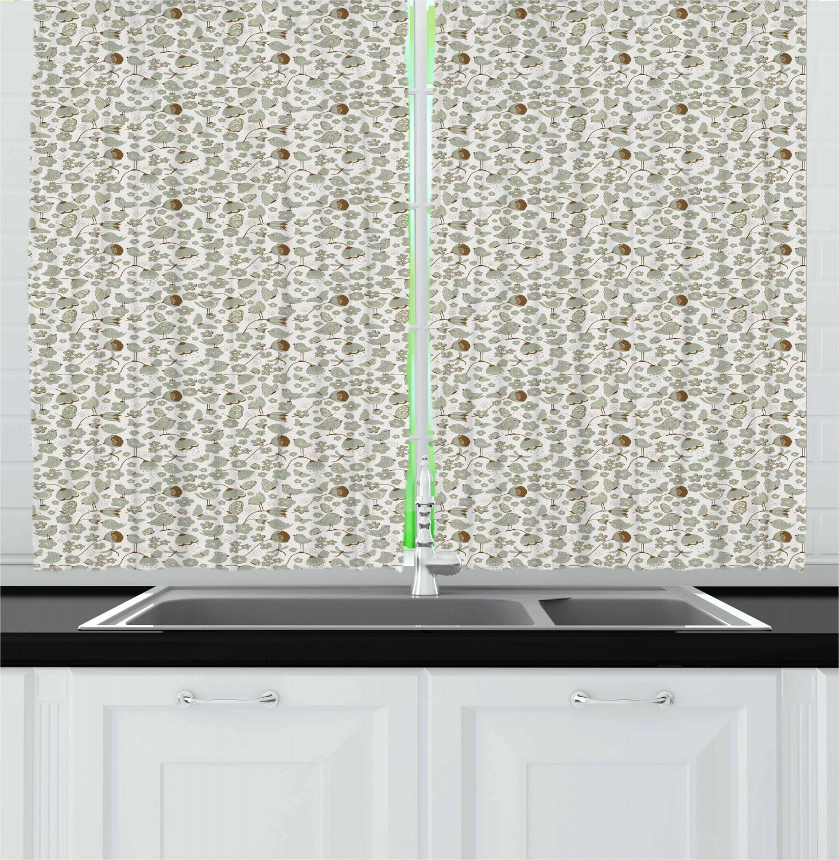 "Birds Kitchen Curtains 2 Panel Set Window Drapes 55"" X 39"