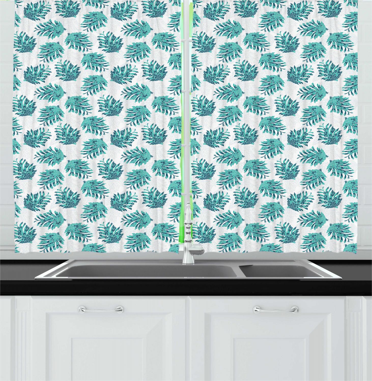 Pine Cone Kitchen Curtains 2 Panel Set Window Drapes 55 Quot X