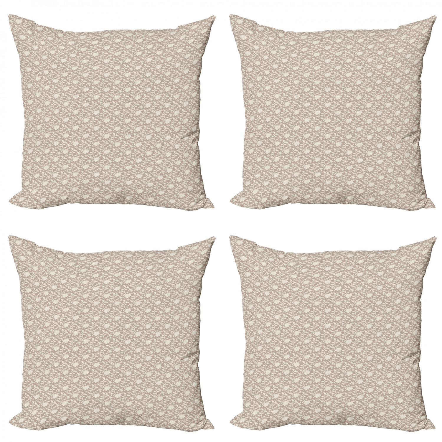Ambesonne-Floral-Drawings-Cushion-Cover-Set-of-4-for-Couch-and-Bed-in-4-Sizes thumbnail 13