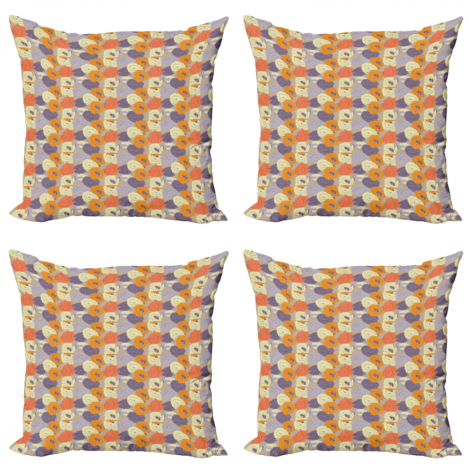 Ambesonne-Floral-Drawings-Cushion-Cover-Set-of-4-for-Couch-and-Bed-in-4-Sizes thumbnail 52