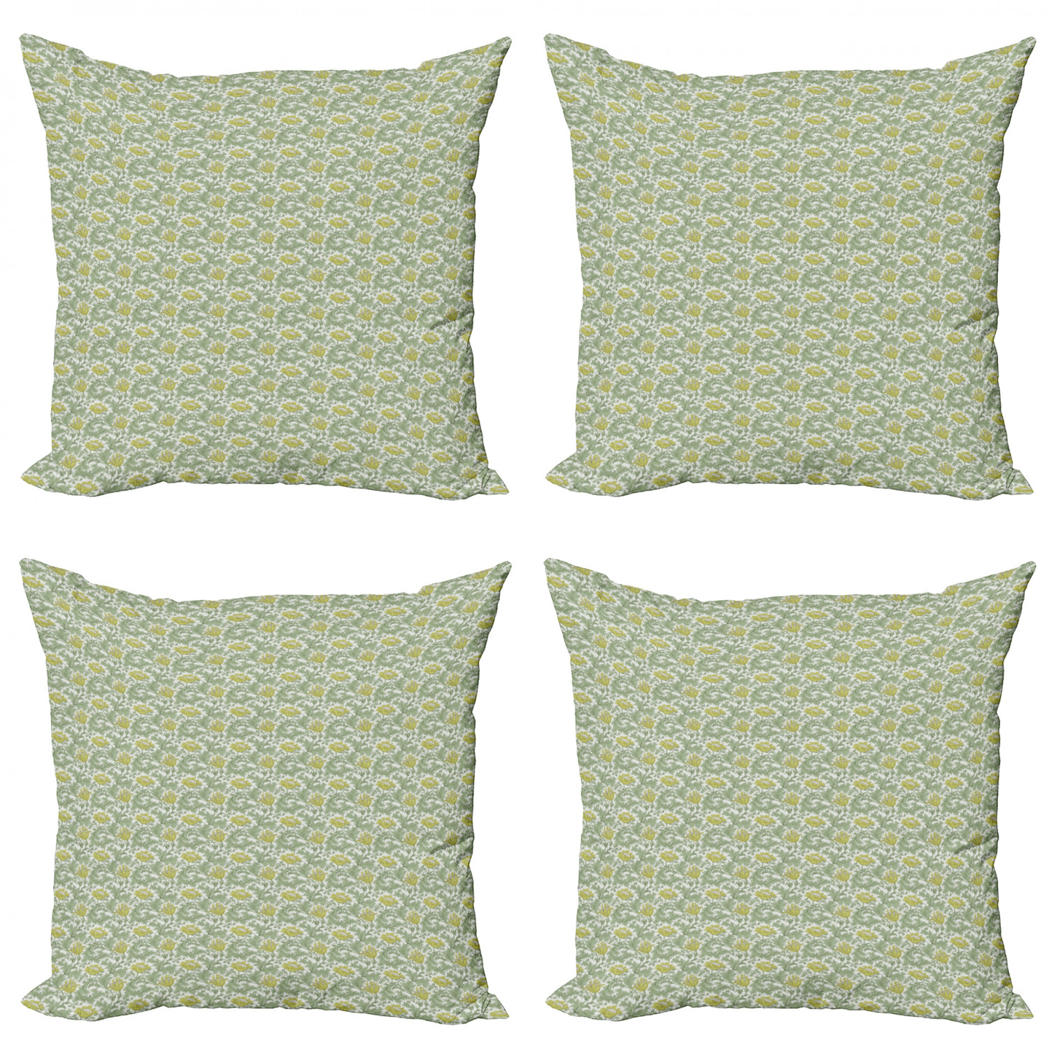 Ambesonne-Floral-Drawings-Cushion-Cover-Set-of-4-for-Couch-and-Bed-in-4-Sizes thumbnail 38