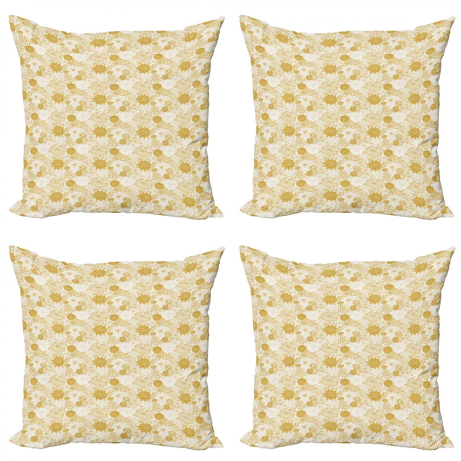 Ambesonne-Floral-Drawings-Cushion-Cover-Set-of-4-for-Couch-and-Bed-in-4-Sizes thumbnail 42