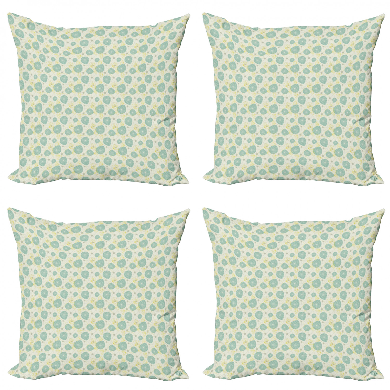 Ambesonne-Floral-Drawings-Cushion-Cover-Set-of-4-for-Couch-and-Bed-in-4-Sizes thumbnail 32