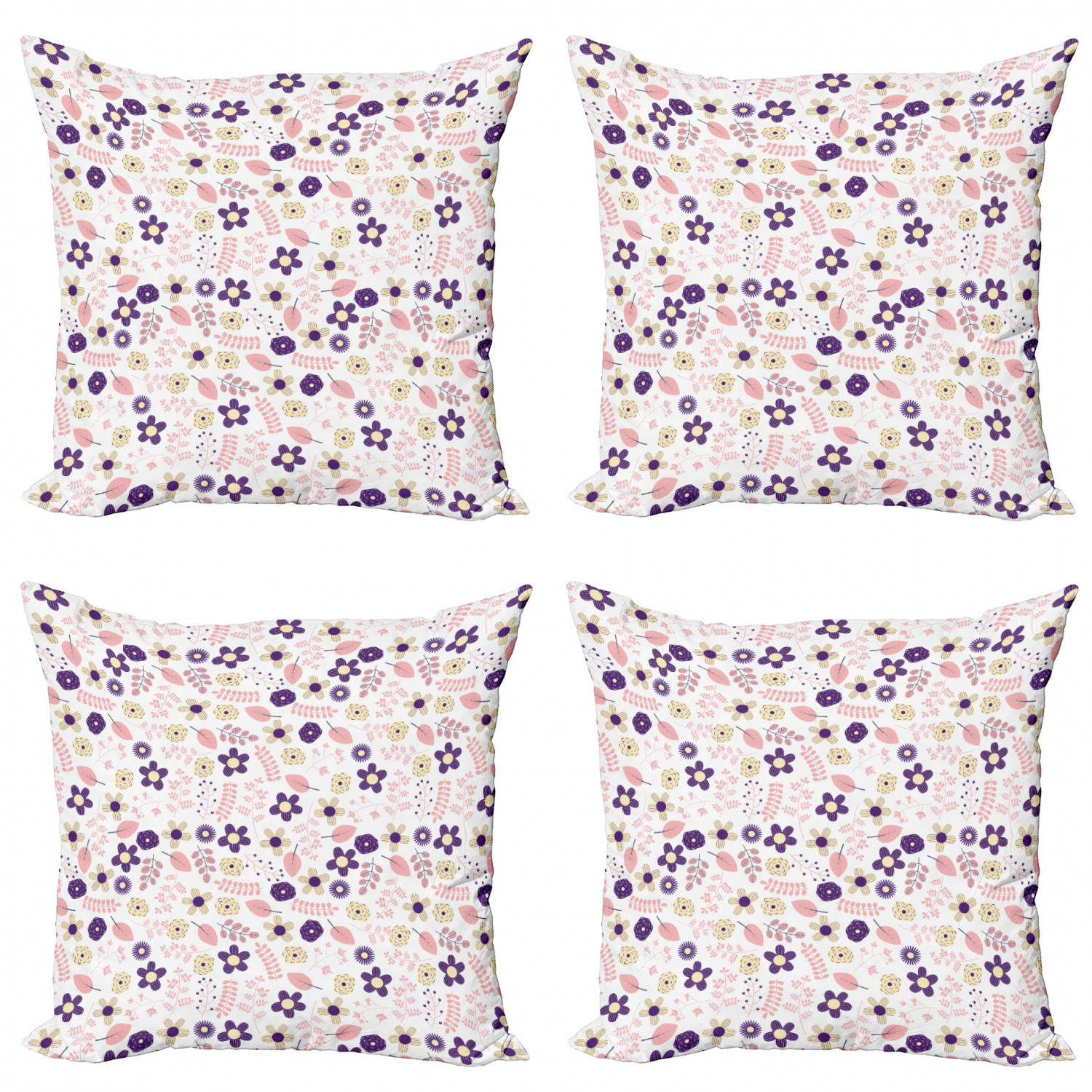 Ambesonne-Floral-Drawings-Cushion-Cover-Set-of-4-for-Couch-and-Bed-in-4-Sizes thumbnail 31