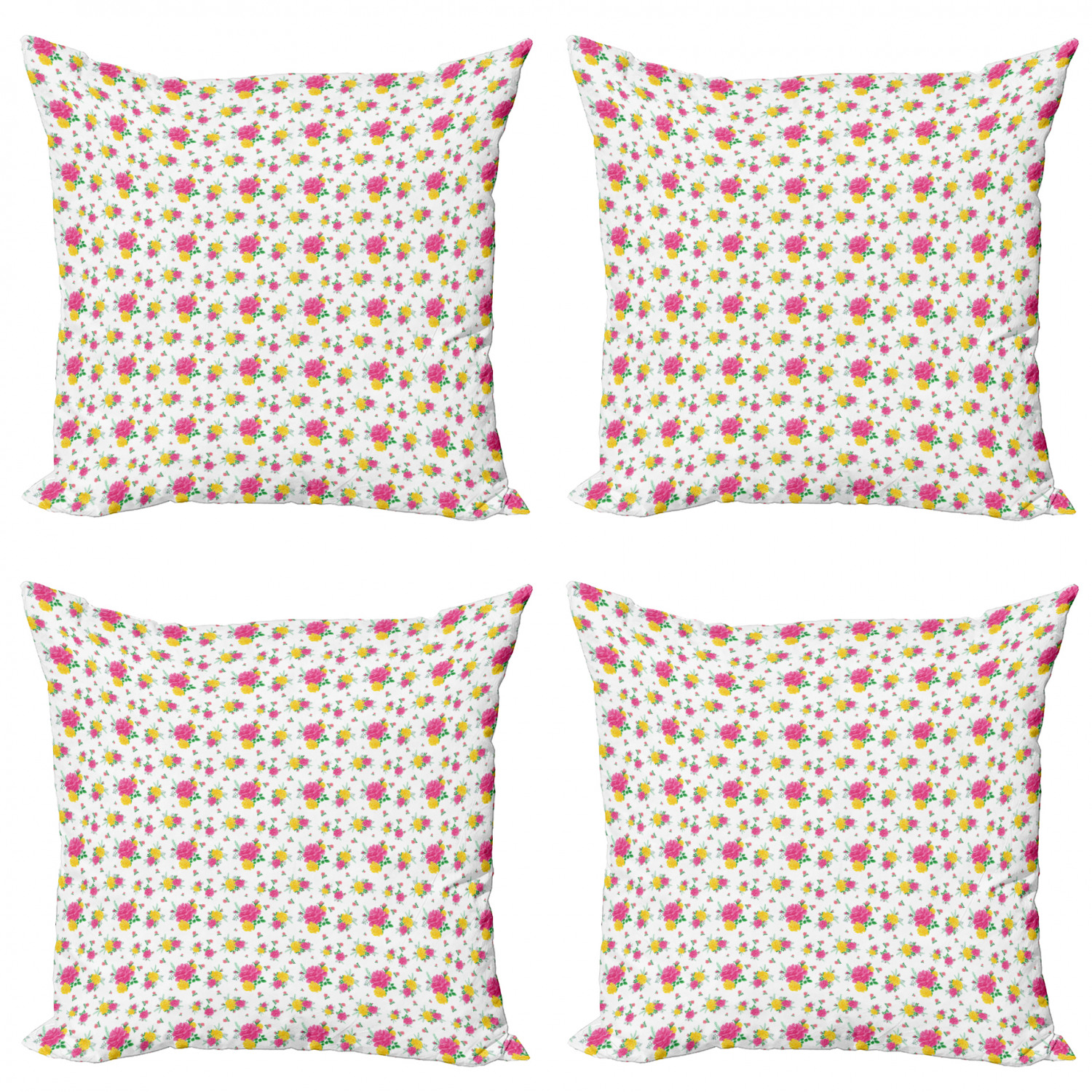 Ambesonne-Floral-Drawings-Cushion-Cover-Set-of-4-for-Couch-and-Bed-in-4-Sizes thumbnail 43