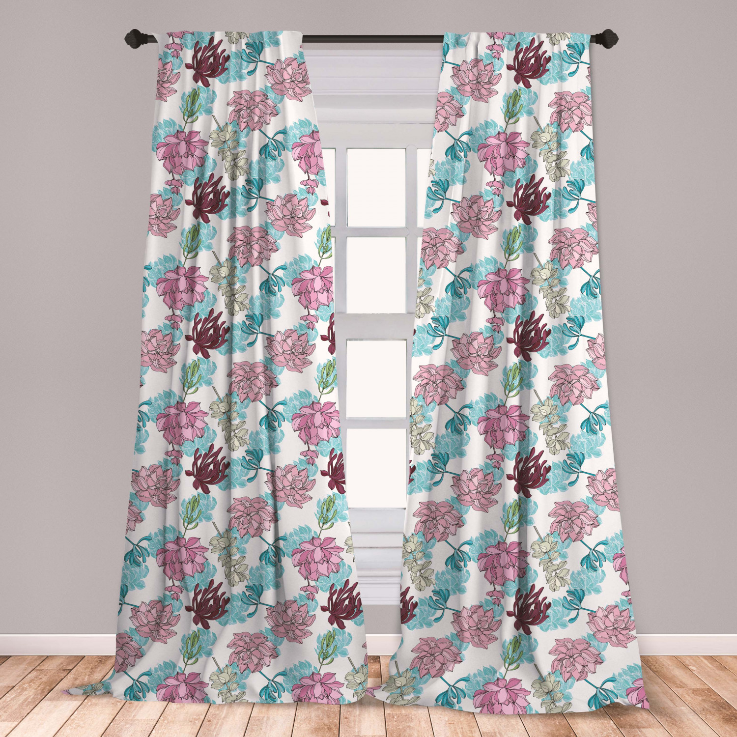 Curtains Drapes Tropic Pattern Microfiber Curtains 2 Panel Set Living Room Bedroom In 3 Sizes Home Garden Mbln Org