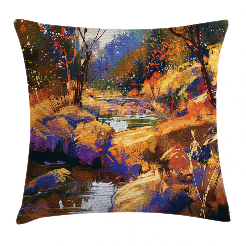 Fantasy Home Decor: Retro Fantasy Throw Pillow Cases Cushion Covers Ambesonne