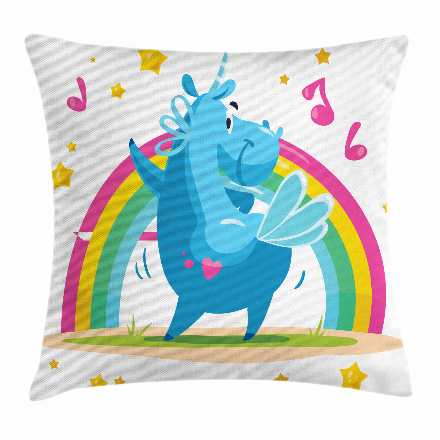 Unicorn Throw Pillow Cases Cushion Covers by Ambesonne Accent Decor 8 Sizes