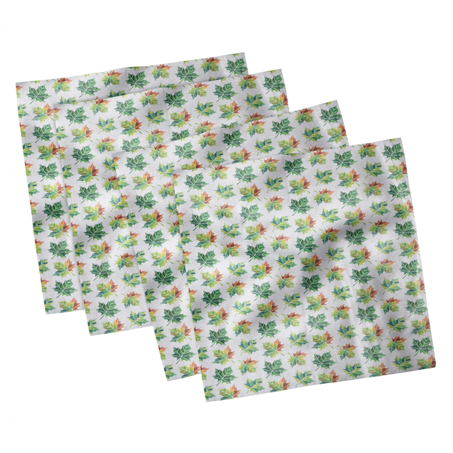 thumbnail 81 - Ambesonne Autumn Fall Decorative Satin Napkins Set of 4 Party Dinner Fabric