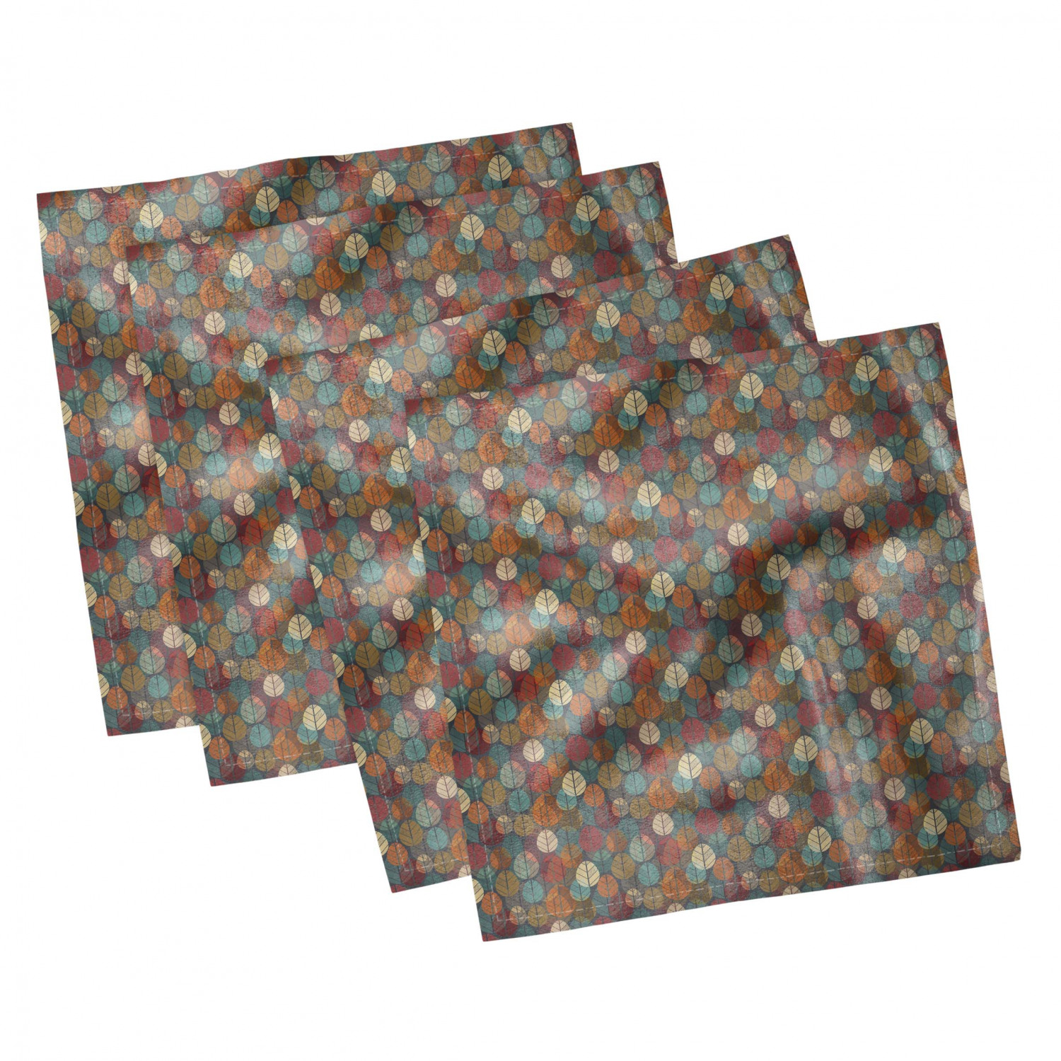 thumbnail 21 - Ambesonne Autumn Fall Decorative Satin Napkins Set of 4 Party Dinner Fabric