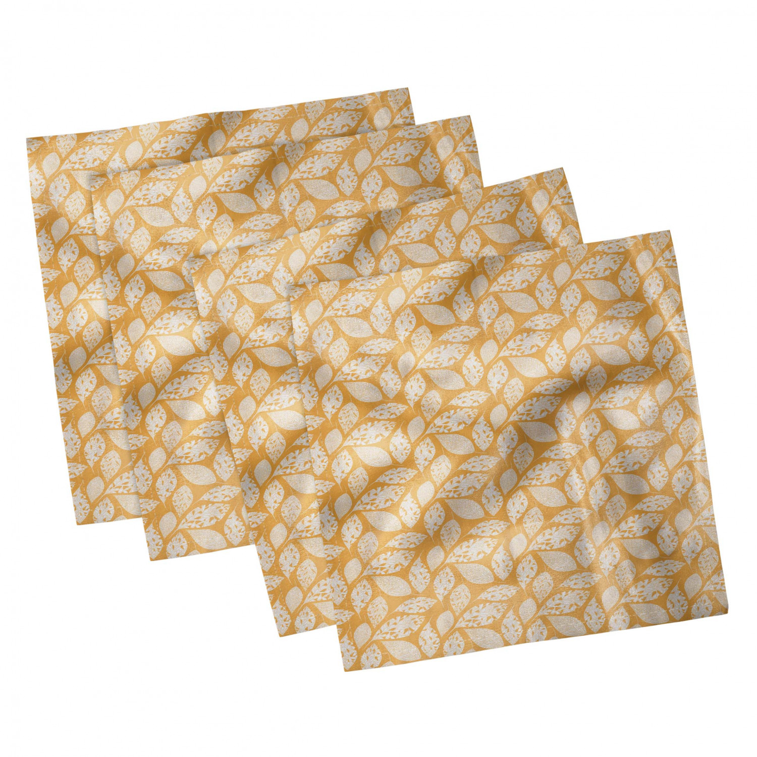 thumbnail 101 - Ambesonne-Autumn-Fall-Decorative-Satin-Napkins-Set-of-4-Party-Dinner-Fabric
