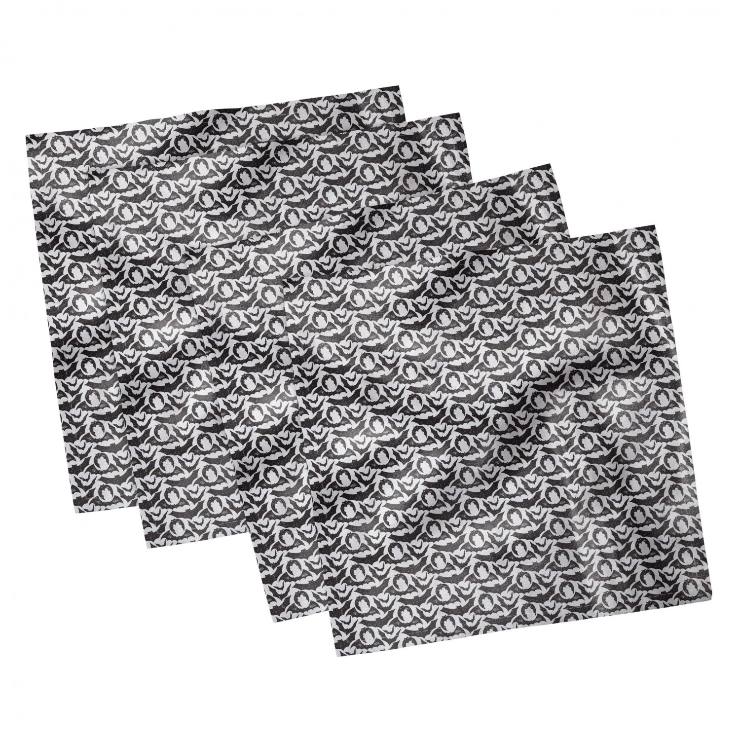 thumbnail 61 - Ambesonne Autumn Fall Decorative Satin Napkins Set of 4 Party Dinner Fabric