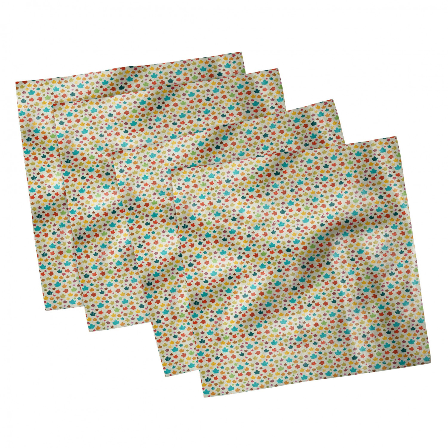 thumbnail 79 - Ambesonne Autumn Fall Decorative Satin Napkins Set of 4 Party Dinner Fabric