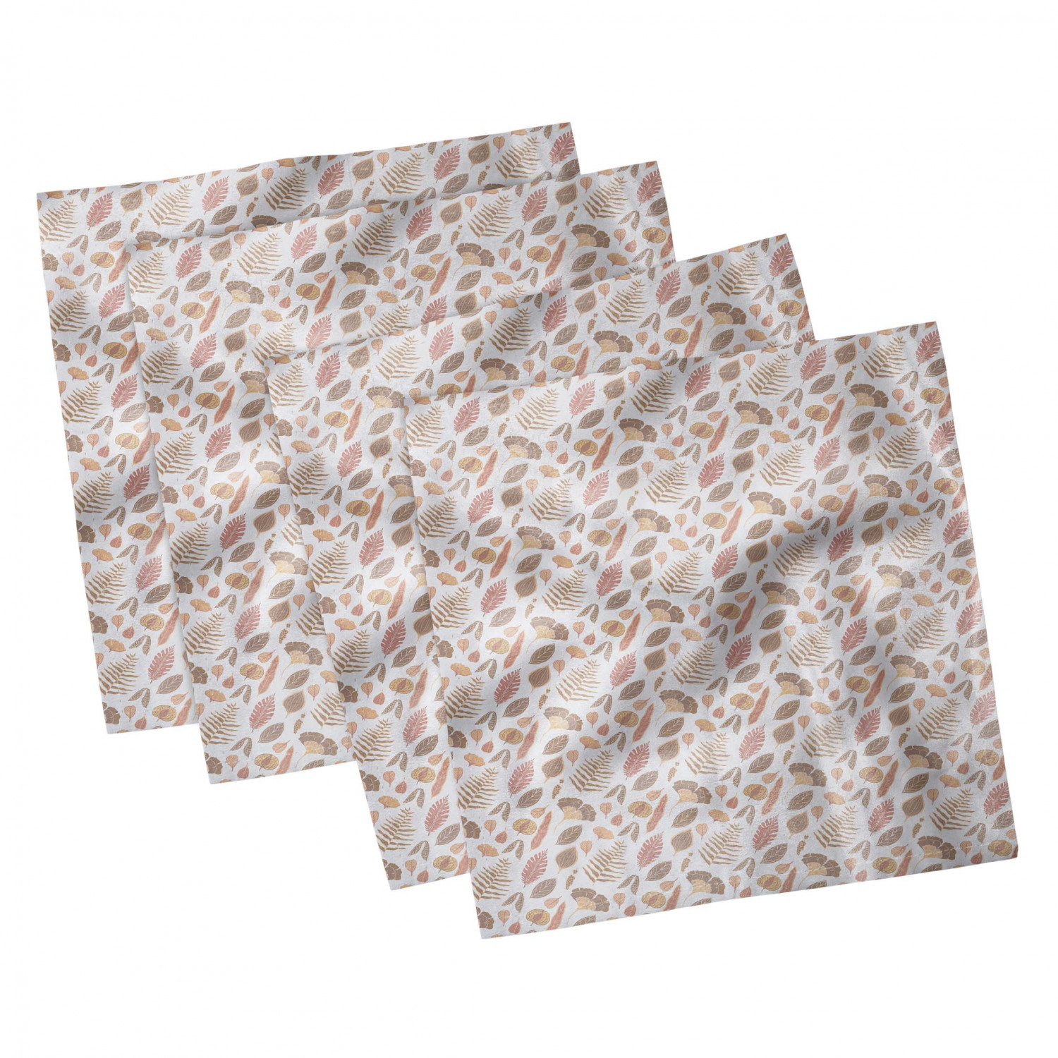 thumbnail 13 - Ambesonne Autumn Fall Decorative Satin Napkins Set of 4 Party Dinner Fabric
