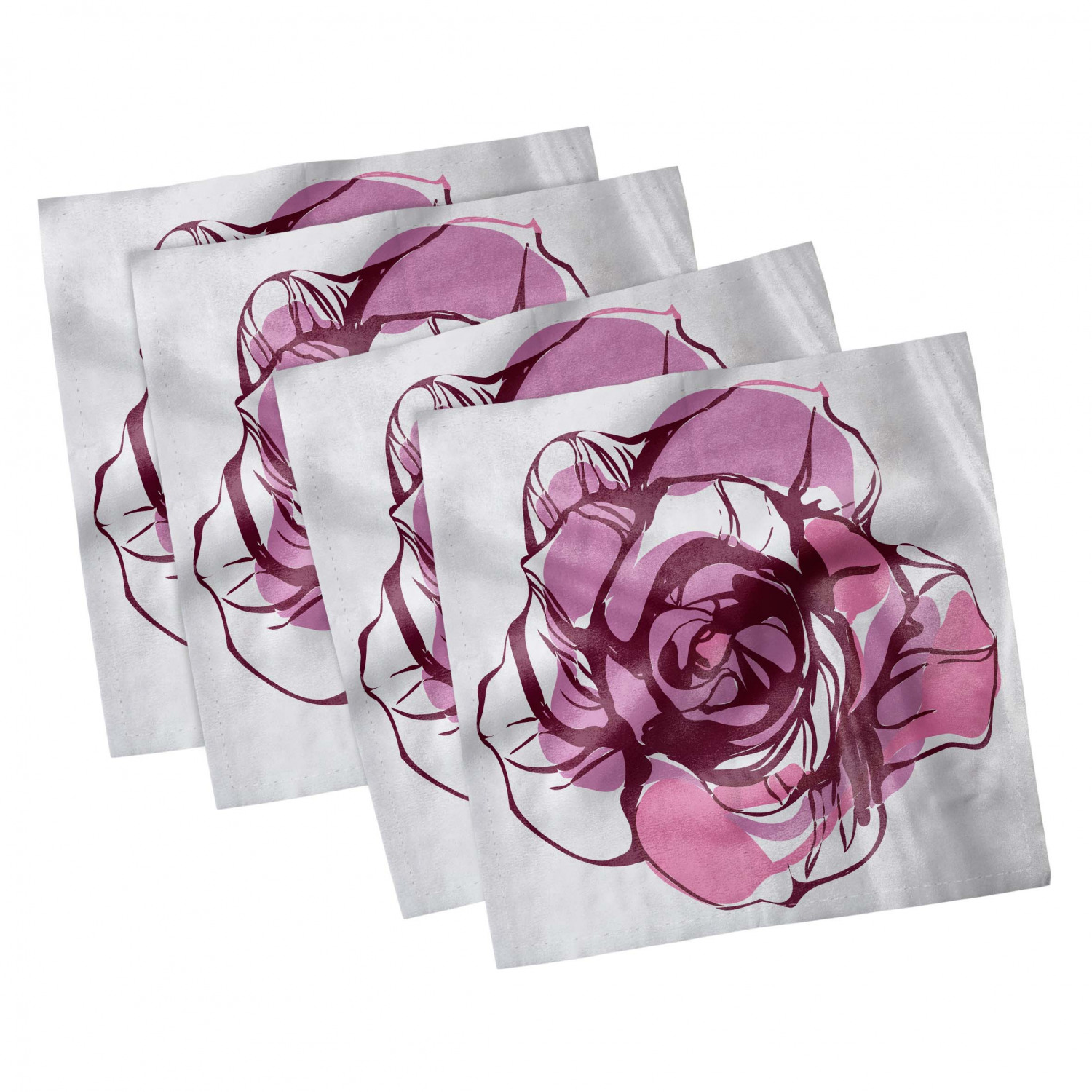 thumbnail 99 - Ambesonne-Leaves-Forest-Decorative-Satin-Napkins-Set-of-4-Party-Dinner-Fabric