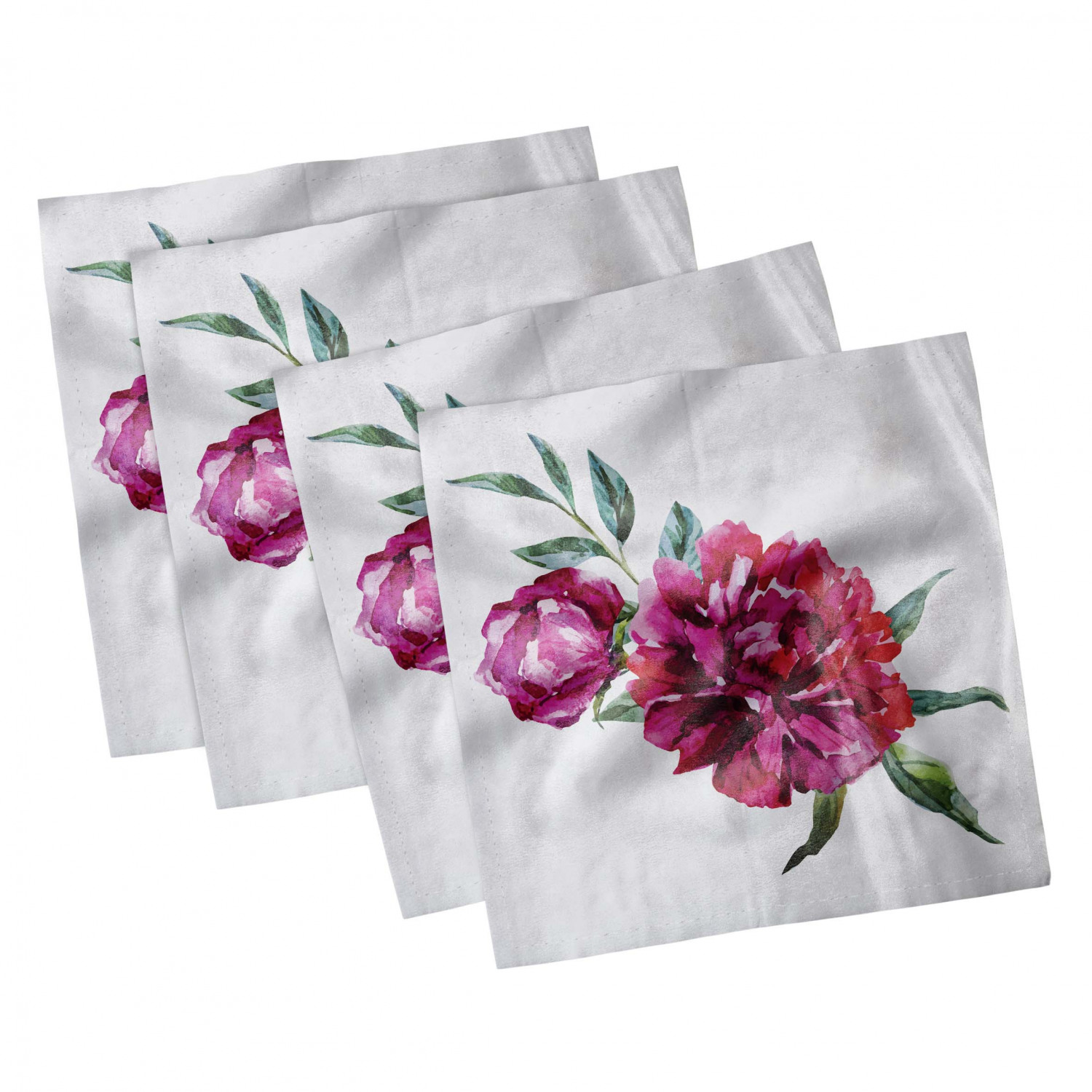 thumbnail 85 - Ambesonne-Leaves-Forest-Decorative-Satin-Napkins-Set-of-4-Party-Dinner-Fabric