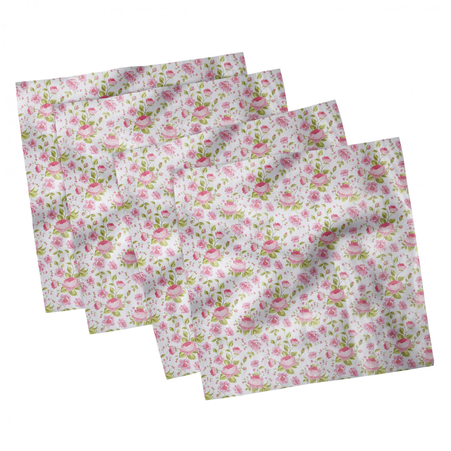 thumbnail 119 - Ambesonne-Leaves-Forest-Decorative-Satin-Napkins-Set-of-4-Party-Dinner-Fabric