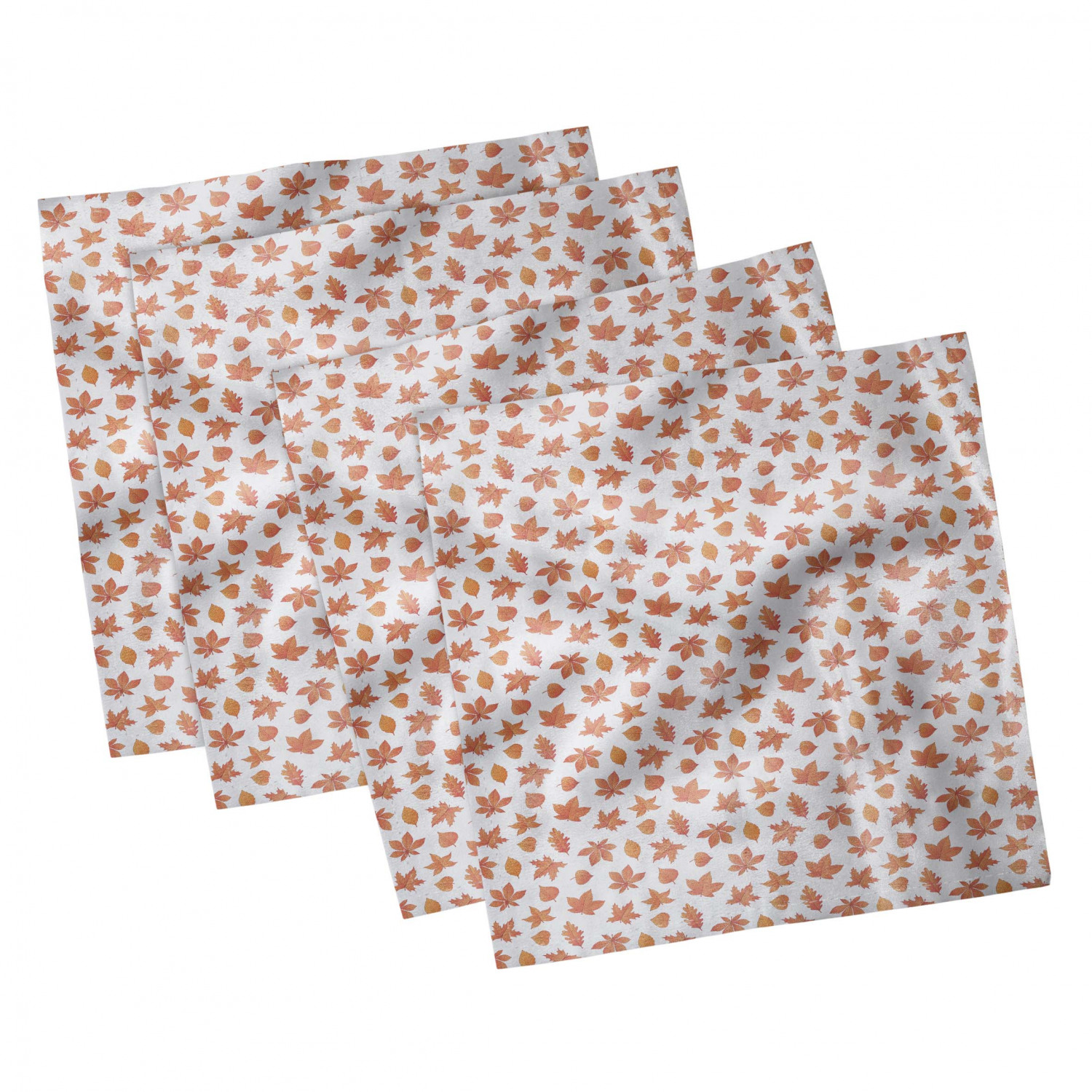 thumbnail 117 - Ambesonne-Leaves-Forest-Decorative-Satin-Napkins-Set-of-4-Party-Dinner-Fabric