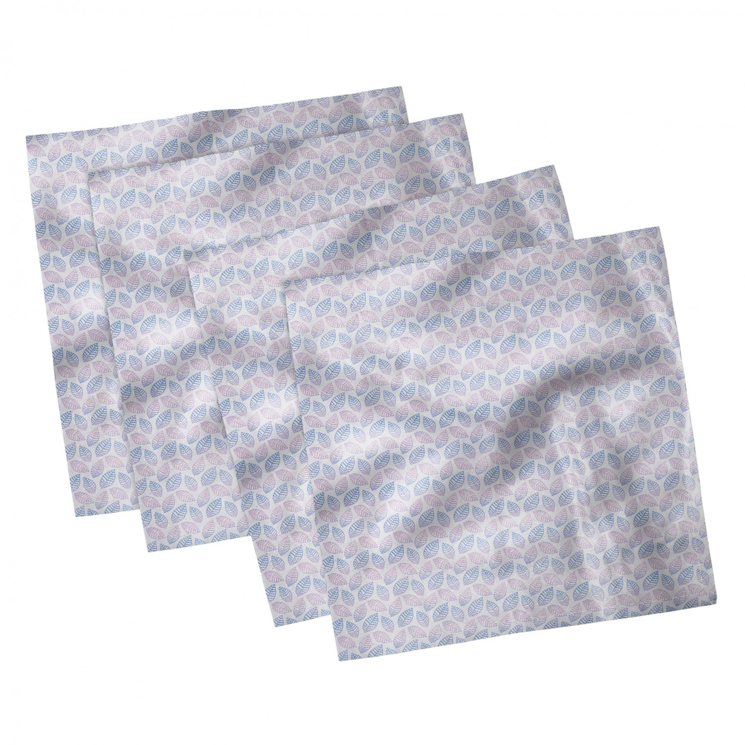 thumbnail 59 - Ambesonne-Leaves-Forest-Decorative-Satin-Napkins-Set-of-4-Party-Dinner-Fabric