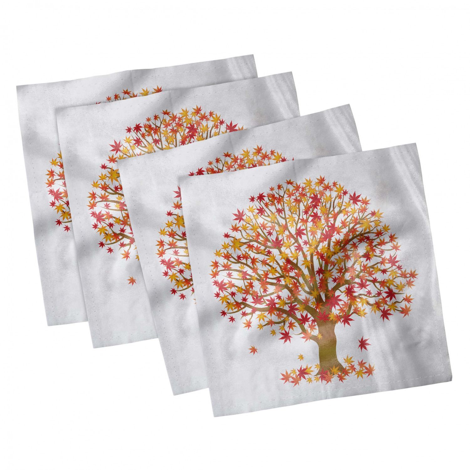 thumbnail 45 - Ambesonne Autumn Fall Decorative Satin Napkins Set of 4 Party Dinner Fabric