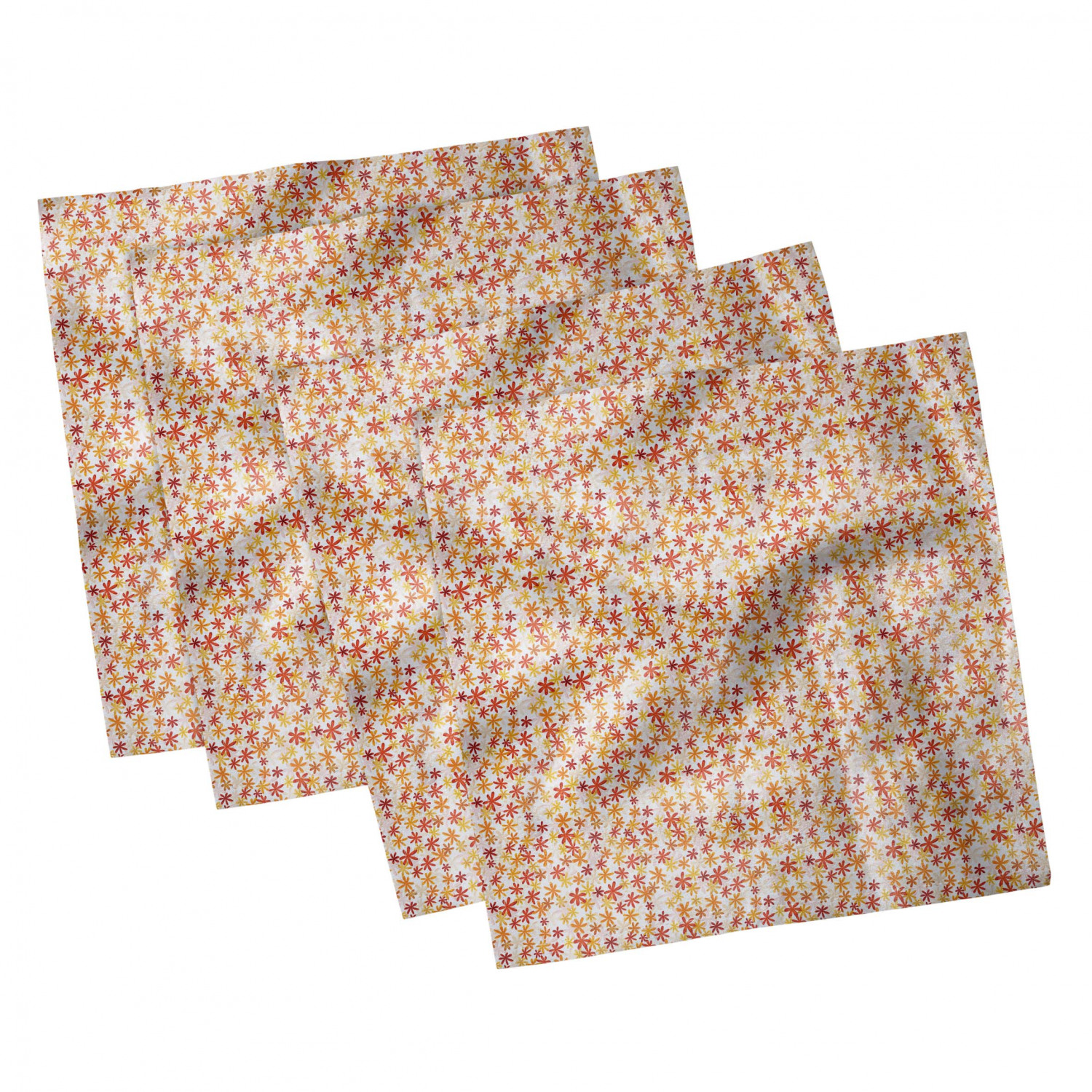 thumbnail 31 - Ambesonne Autumn Fall Decorative Satin Napkins Set of 4 Party Dinner Fabric