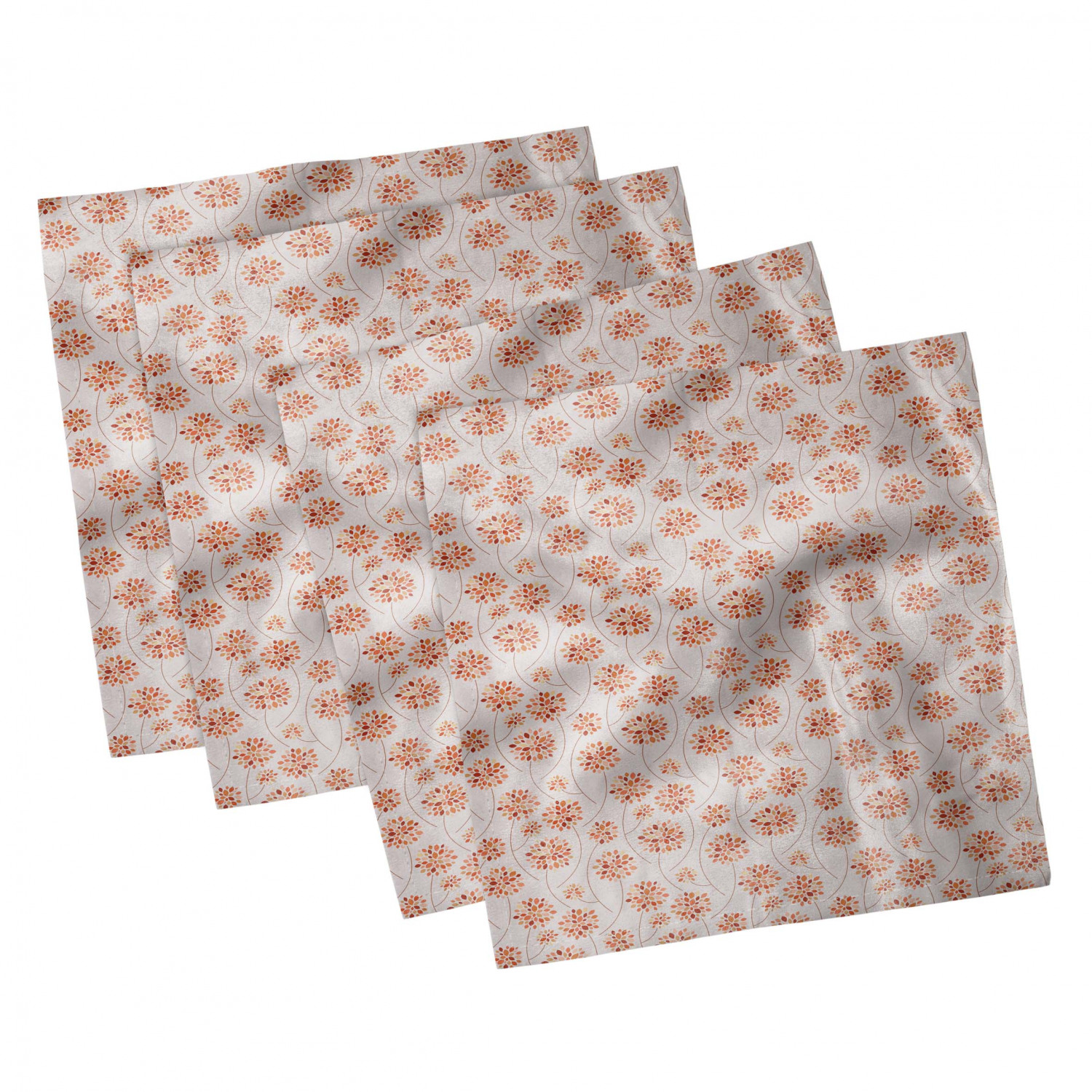thumbnail 7 - Ambesonne-Autumn-Fall-Decorative-Satin-Napkins-Set-of-4-Party-Dinner-Fabric