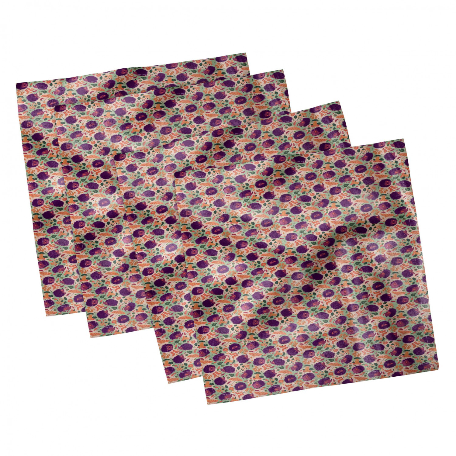 thumbnail 67 - Ambesonne Autumn Fall Decorative Satin Napkins Set of 4 Party Dinner Fabric