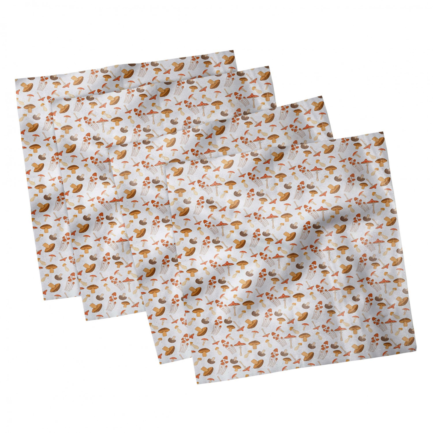 thumbnail 19 - Ambesonne Autumn Fall Decorative Satin Napkins Set of 4 Party Dinner Fabric