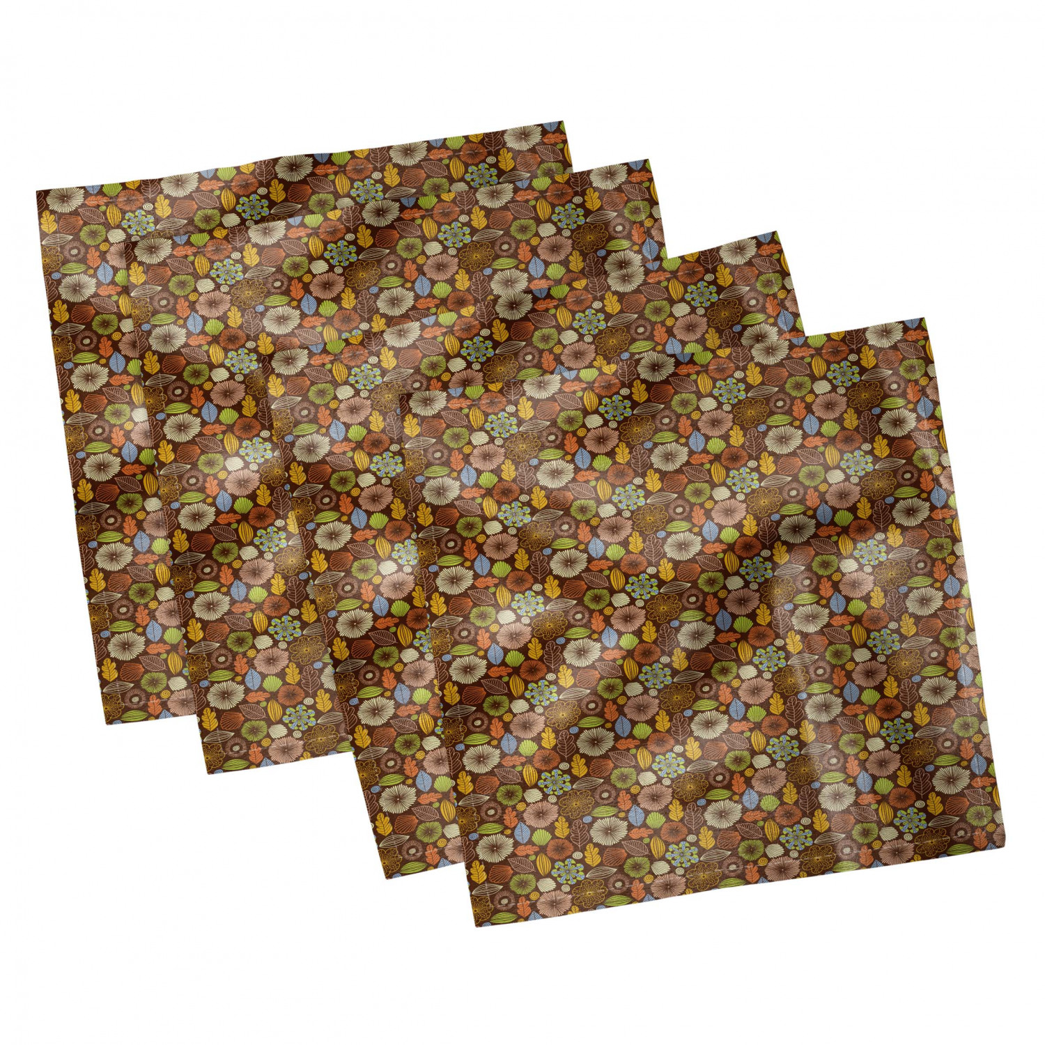 thumbnail 39 - Ambesonne Autumn Fall Decorative Satin Napkins Set of 4 Party Dinner Fabric