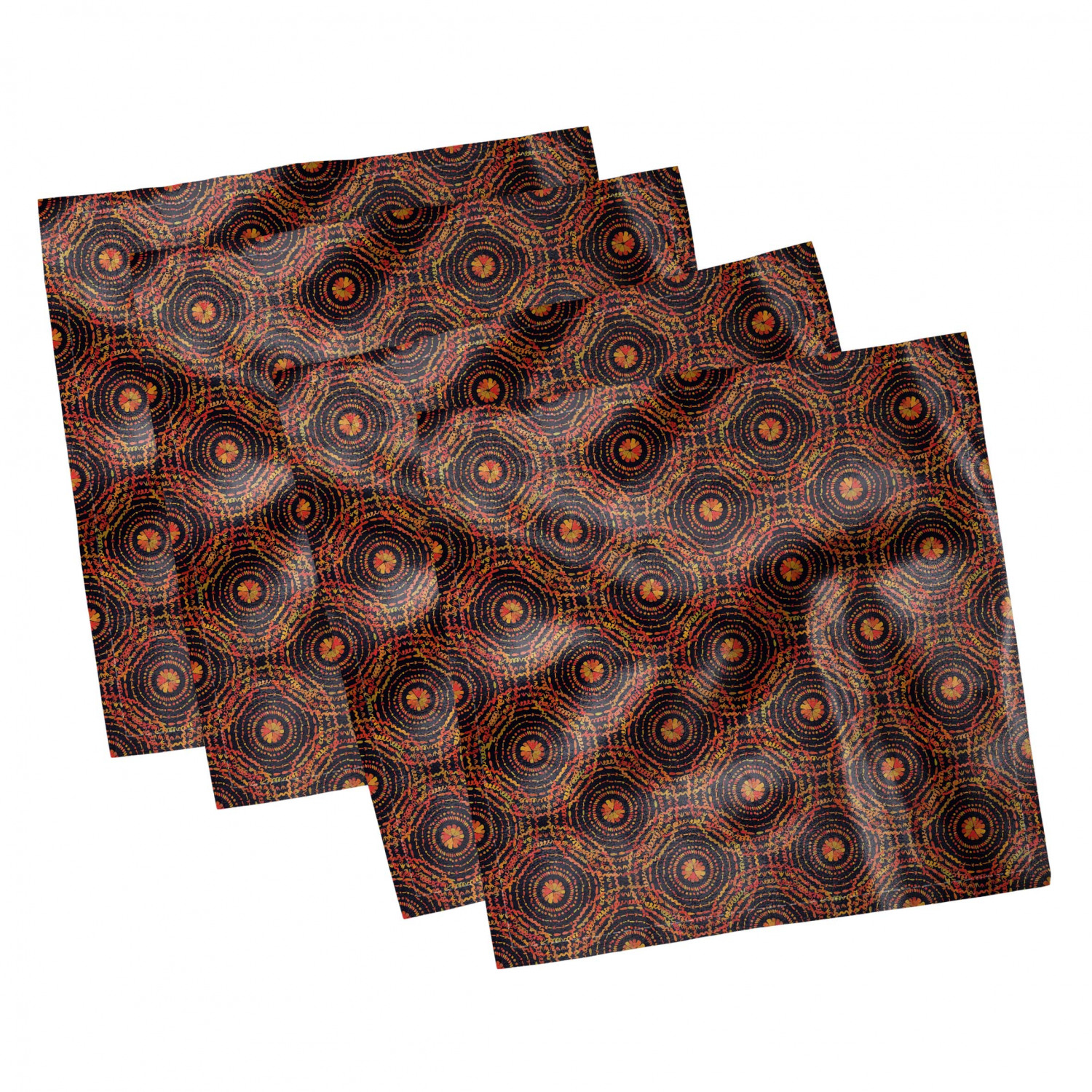 thumbnail 5 - Ambesonne Autumn Fall Decorative Satin Napkins Set of 4 Party Dinner Fabric