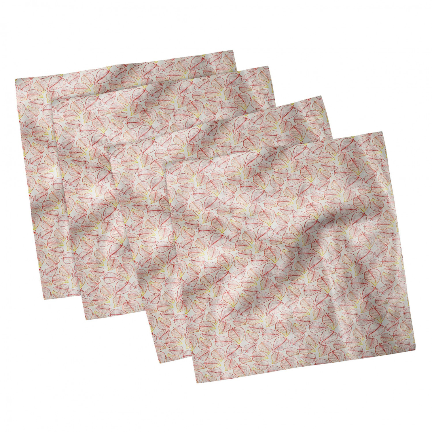thumbnail 73 - Ambesonne Autumn Fall Decorative Satin Napkins Set of 4 Party Dinner Fabric