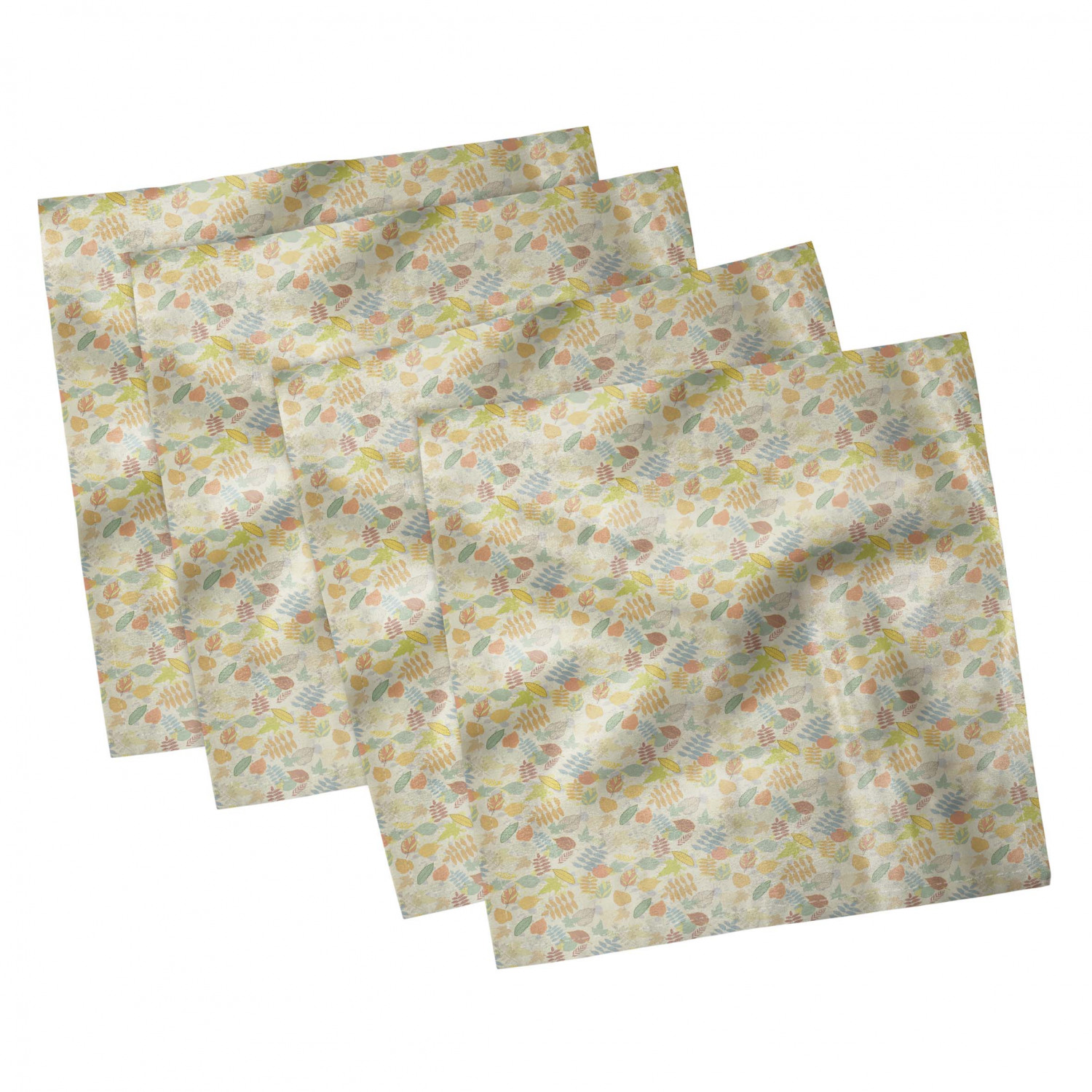 thumbnail 113 - Ambesonne Autumn Fall Decorative Satin Napkins Set of 4 Party Dinner Fabric
