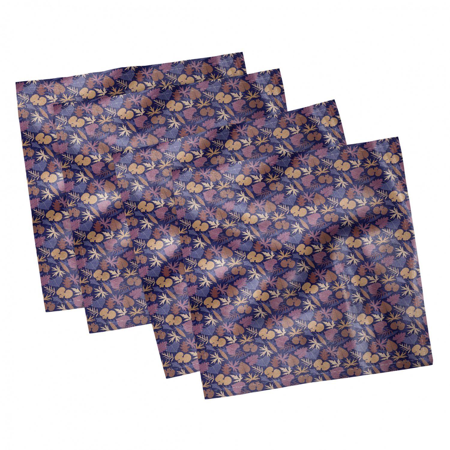 thumbnail 59 - Ambesonne Autumn Fall Decorative Satin Napkins Set of 4 Party Dinner Fabric