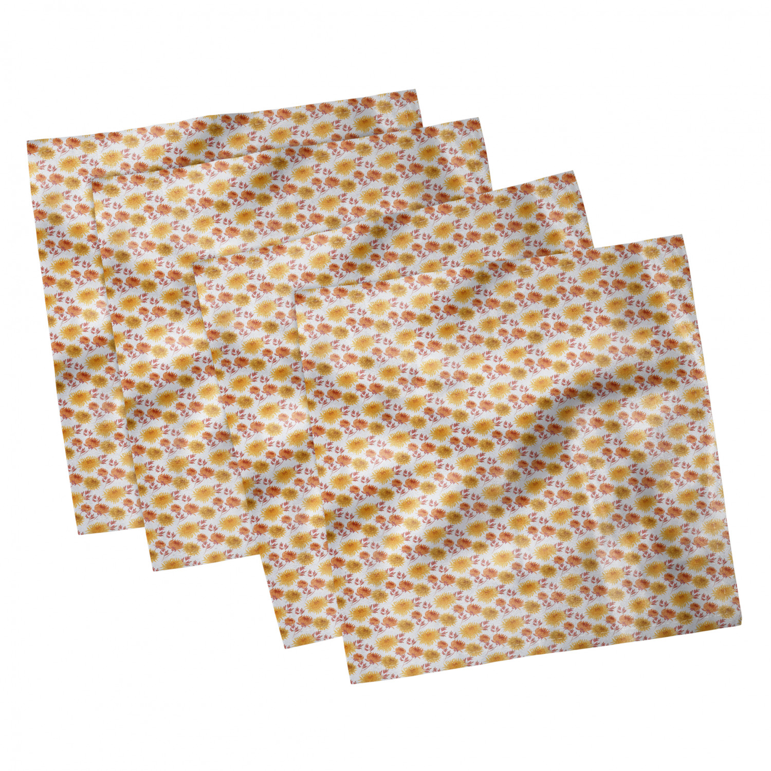 thumbnail 17 - Ambesonne-Autumn-Fall-Decorative-Satin-Napkins-Set-of-4-Party-Dinner-Fabric