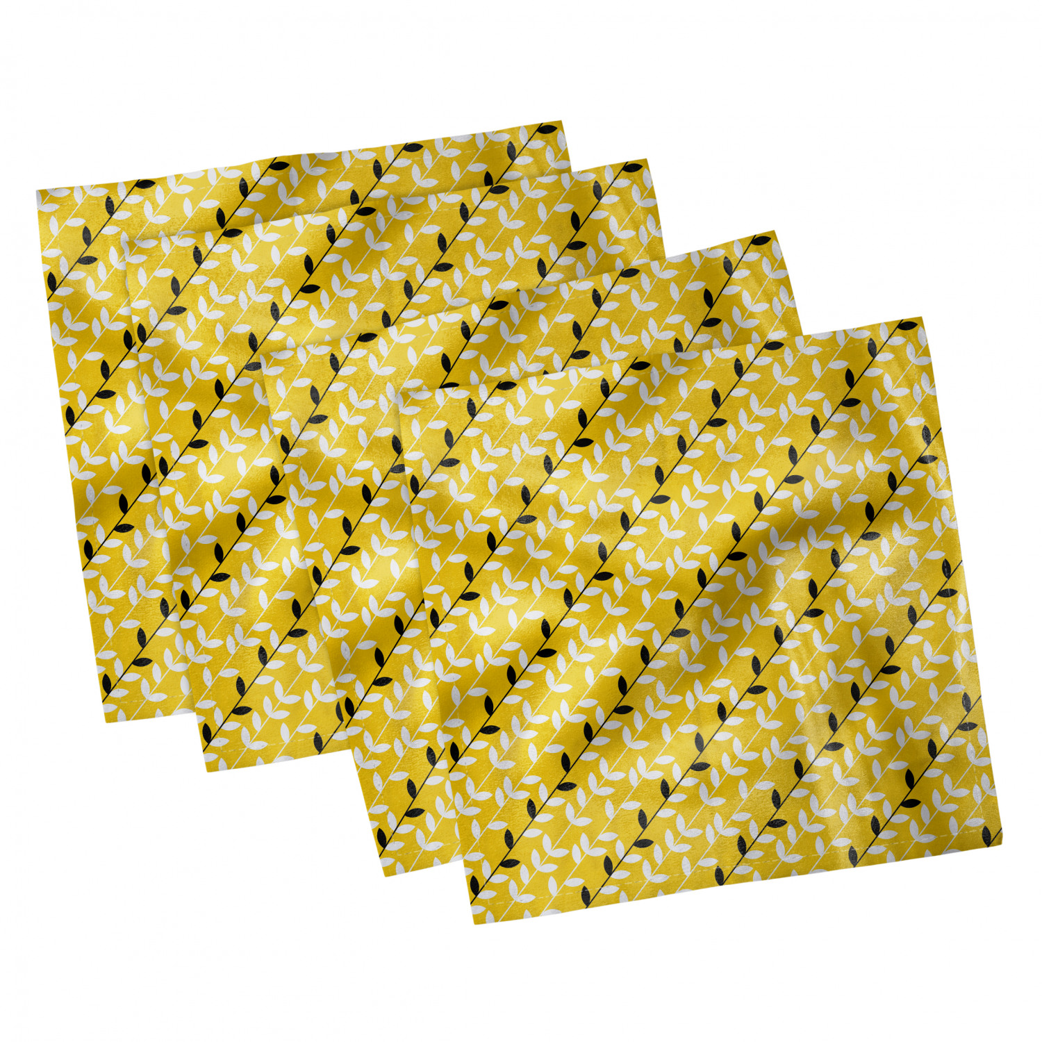 thumbnail 35 - Ambesonne-Leaves-Forest-Decorative-Satin-Napkins-Set-of-4-Party-Dinner-Fabric