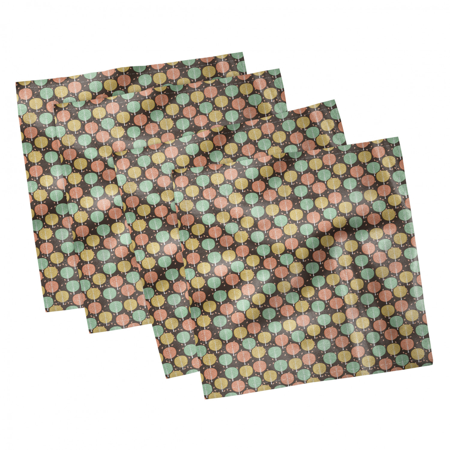 thumbnail 111 - Ambesonne Autumn Fall Decorative Satin Napkins Set of 4 Party Dinner Fabric