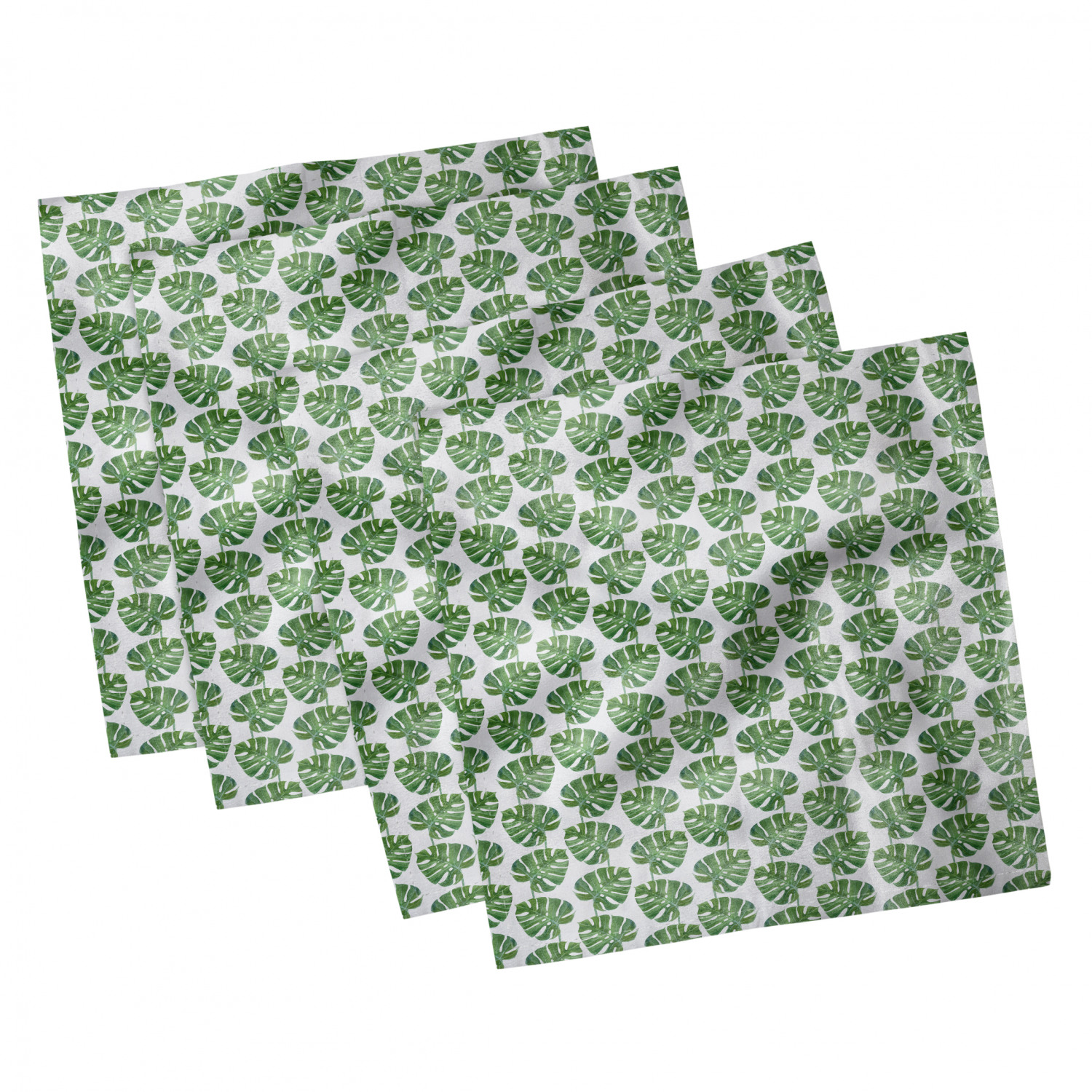 thumbnail 13 - Ambesonne-Leaves-Forest-Decorative-Satin-Napkins-Set-of-4-Party-Dinner-Fabric