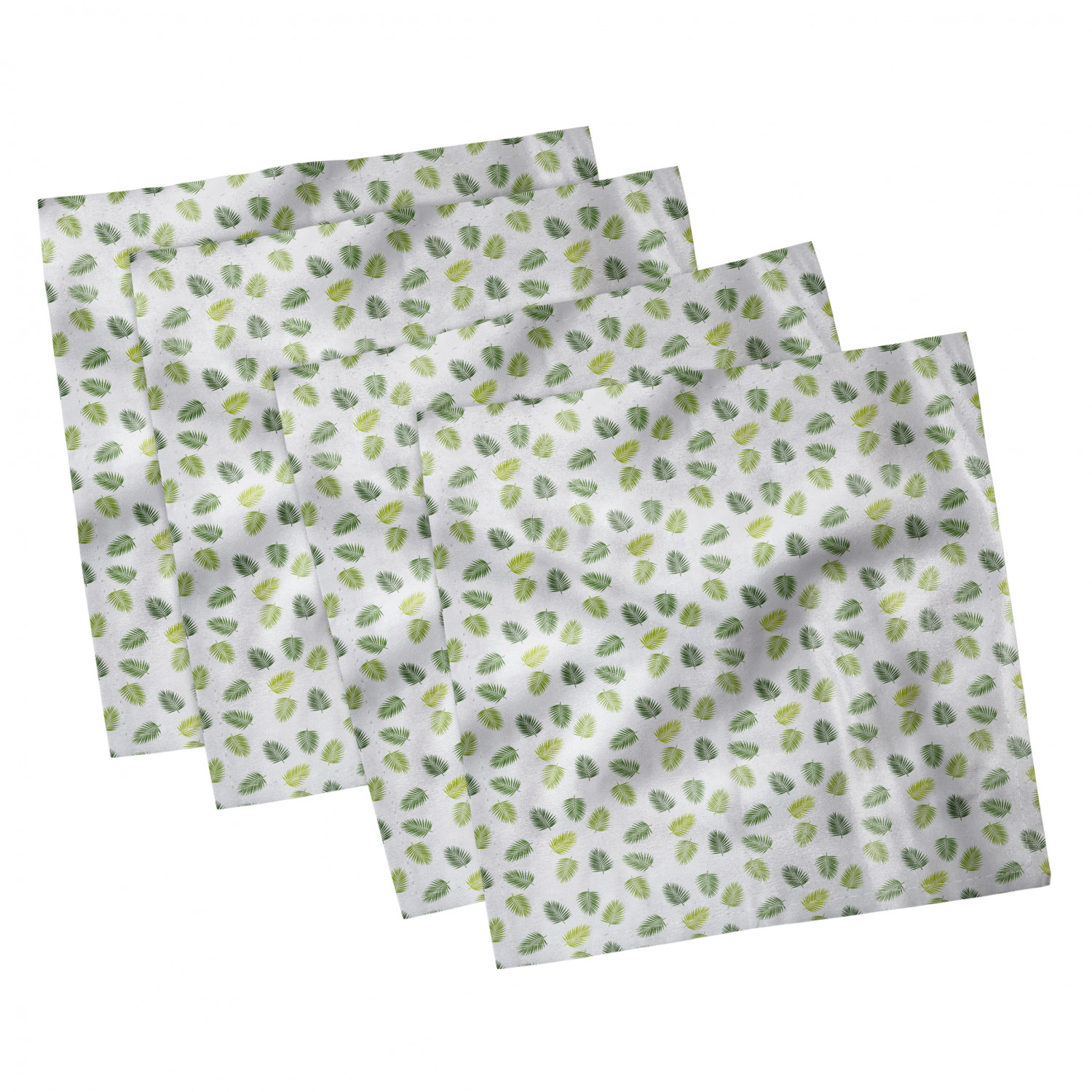 thumbnail 55 - Ambesonne-Leaves-Forest-Decorative-Satin-Napkins-Set-of-4-Party-Dinner-Fabric