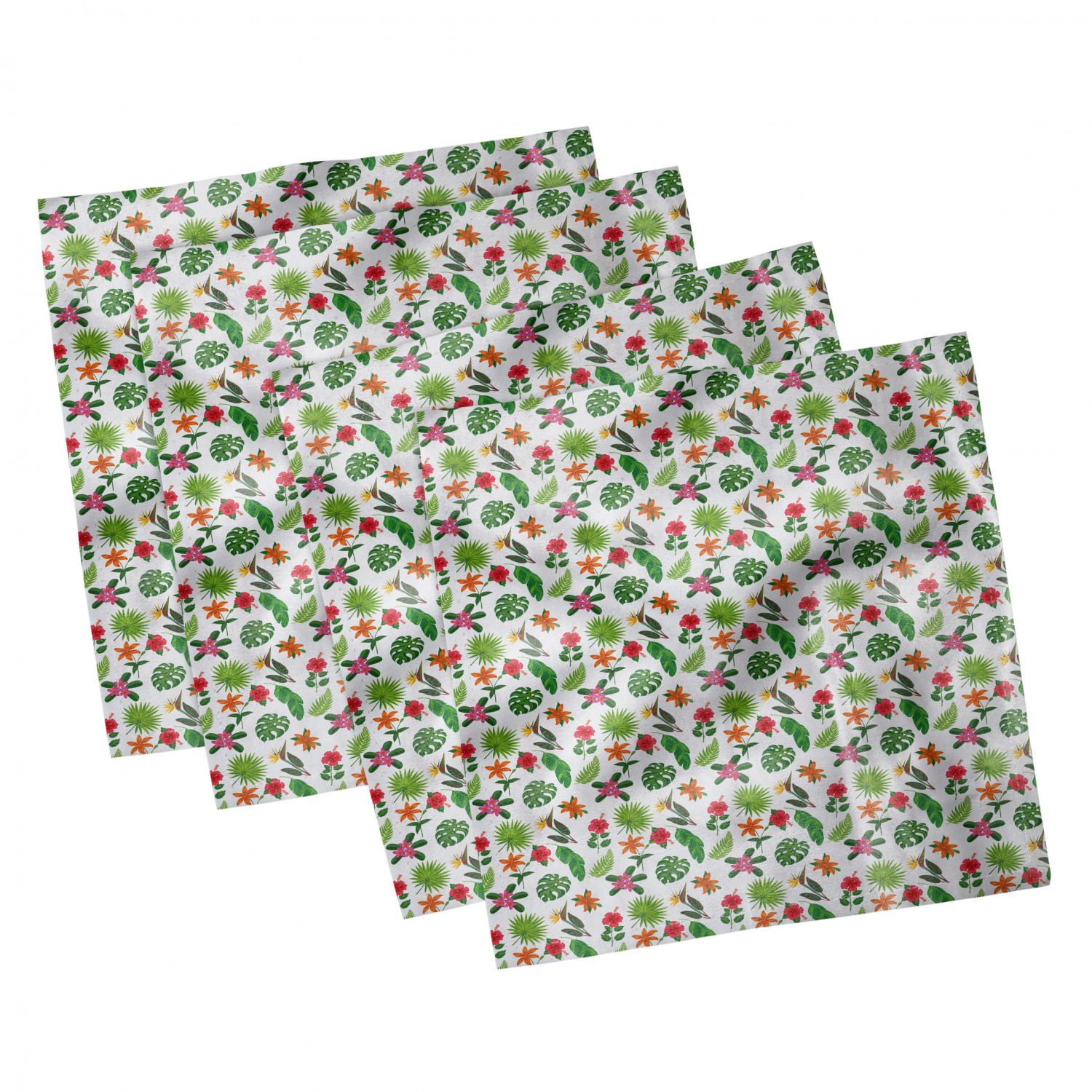 thumbnail 111 - Ambesonne-Leaves-Forest-Decorative-Satin-Napkins-Set-of-4-Party-Dinner-Fabric
