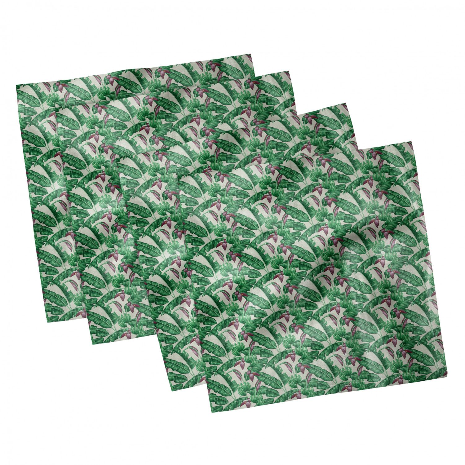 thumbnail 11 - Ambesonne-Leaves-Forest-Decorative-Satin-Napkins-Set-of-4-Party-Dinner-Fabric